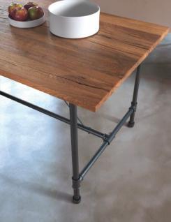 Esstisch, Tisch aus Mettall und Holz, im Lanhausstil in drei Größen - Vorschau 2