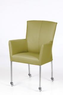 moderner stuhl auf rollen echtleder bezug in verschiedenen farben kaufen bei richhomeshop. Black Bedroom Furniture Sets. Home Design Ideas