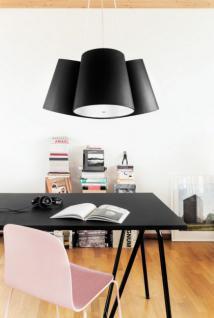 h ngeleuchte mit drei lampenschirmen moderne h ngelampe. Black Bedroom Furniture Sets. Home Design Ideas