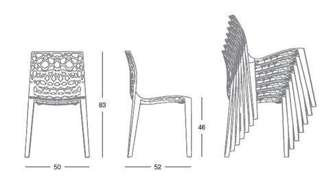 Design-Stuhl, Farbe weiß - Vorschau 4