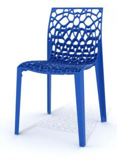 Outdoor Design-Stuhl, Farbe blau - Vorschau 1