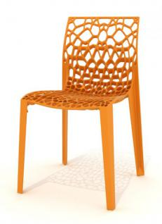 Outdoor Design-Stuhl, Farbe orange