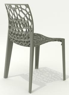 Design-Stuhl, Farbe weiß - Vorschau 2