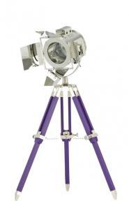 Maritime Stativlampe - Tischleuchte Dreifuß, schwarz-chrom - Vorschau 2