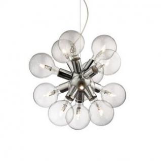 Pendelleuchte Metall chrom, Glühbirnen, modern
