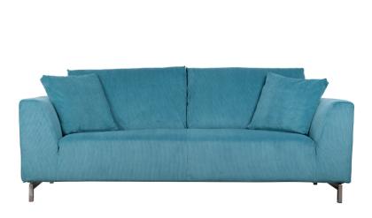 Sofa aus Kordgewebe in blau - Vorschau