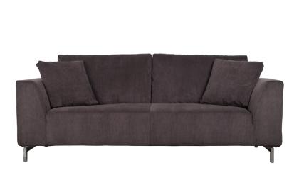 Sofa aus Kordgewebe in grau