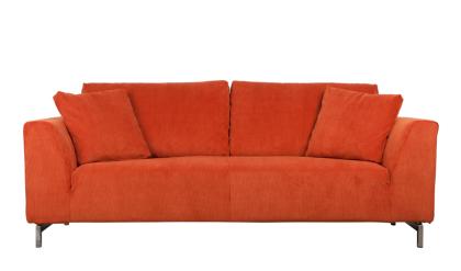 Sofa aus Kordgewebe in orange - Vorschau
