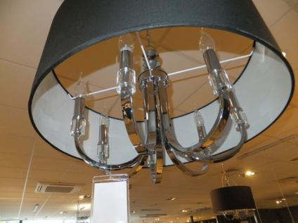 Hängeleuchte fünf flammig mit einem schwarzen Lampenschirm - Vorschau 4