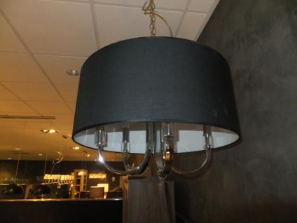 Hängeleuchte fünf flammig mit einem schwarzen Lampenschirm - Vorschau 3