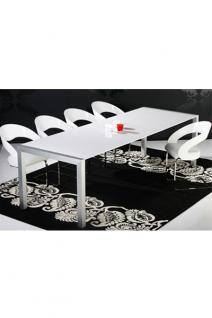 Design konferenztisch, modern, Aluminium, Länge verstellbar.