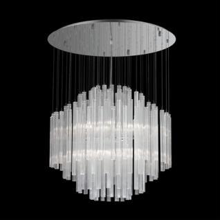 kronleuchter glasrohre sternschnitt transparent metall. Black Bedroom Furniture Sets. Home Design Ideas