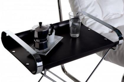 moderner Beistelltisch, schwarz/ chrom - Vorschau 3