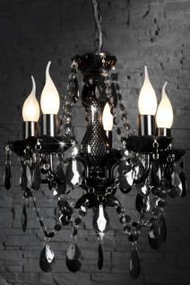 Kronleuchter aus Acrylglas, 5-armig, Farbe schwarz, Durchmesser 53 cm - Vorschau 1