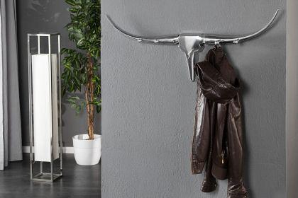 Wandgarderobe aus Aluminium, Garderobe mit vier Kleiderhaken, Breite 100 cm - Vorschau 3