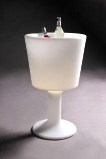 Design Beistelltisch in Weiß, leuchtend Light Drink - Vorschau 1