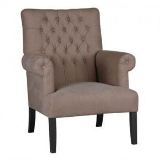 Sessel im Landhausstil in vier Farben: leinenfarbe, kieselfarbe, coffe braun und anthrazit - Vorschau 1