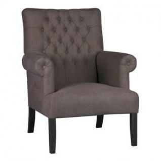 Sessel im Landhausstil in vier Farben: leinenfarbe, kieselfarbe, coffe braun und anthrazit - Vorschau 3