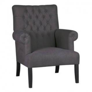 Sessel im Landhausstil in vier Farben: leinenfarbe, kieselfarbe, coffe braun und anthrazit - Vorschau 4