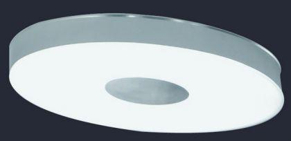 Moderne Decken-/ Wandleuchte aus Metall und Glas in weiß und chrom - Vorschau 1