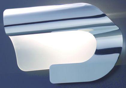Moderne Wandleuchte aus Glas und Metall in weiß und gold, silber, chrom oder weiß