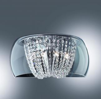 wandleuchte glas kristall transparent metall chrom kaufen bei richhomeshop. Black Bedroom Furniture Sets. Home Design Ideas