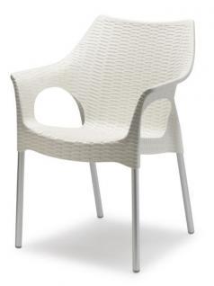 Design Stuhl, Kunststoff, Leinen, Sitzhöhe 45 cm