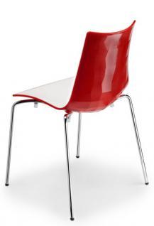 Design stuhl kunststoff verchromt sitzh he 48 cm for Stuhl design schule