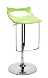 Design Bar-Tresenhocker, Stahl, Chrom, Grün - Vorschau 1