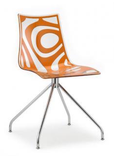 Design stuhl kunststoff verchromt sitzh he 46 cm for Design stuhl kunststoff