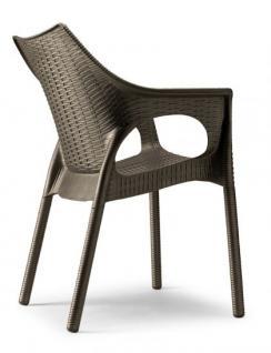 Design stuhl kunststoff anthrazit sitzh he 45 cm for Design stuhl kunststoff