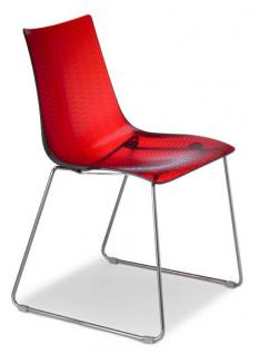 Design stuhl kunststoff verchromt sitzh he 45 cm for Stuhl design schule
