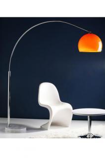 Stehleuchte im modern Stil Schirm orange 170 cm
