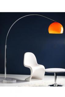 Stehleuchte im modern Stil Schirm orange 195 cm
