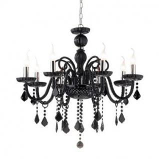 kronleuchter metall chrom glas wei kaufen bei richhomeshop. Black Bedroom Furniture Sets. Home Design Ideas