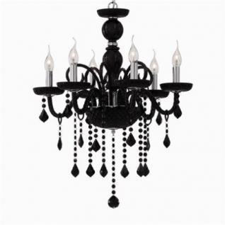 kronleuchter metall chrom glas schwarz kaufen bei. Black Bedroom Furniture Sets. Home Design Ideas