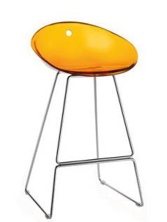 Design Barhocker Farbe orange transparent, 65 cm Sitzhöhe
