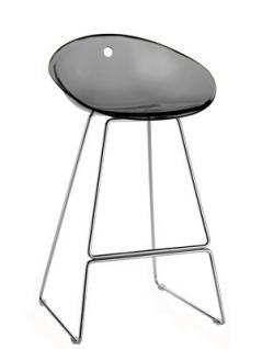 design barhocker farbe grau transparent 65 cm sitzh he. Black Bedroom Furniture Sets. Home Design Ideas