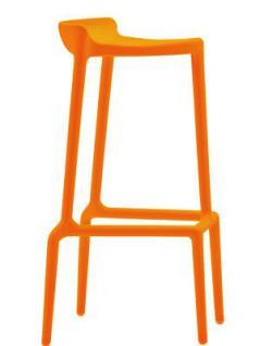 Barhocker orange und in vier weiteren Farben, stapelbar, Sitzhöhe 75 cm