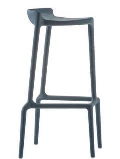 Barhocker grau und in vier weiteren Farben, stapelbar, Sitzhöhe 75 cm