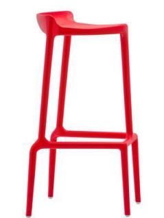 Barhocker rot und in vier weiteren Farben, stapelbar, Sitzhöhe 75 cm