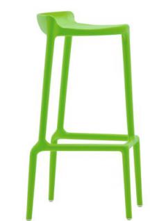 Barhocker grün und in vier weiteren Farben, stapelbar, Sitzhöhe 75 cm - Vorschau 1