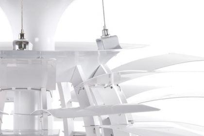 Pendelleuchte in weiß, modern - Vorschau 4