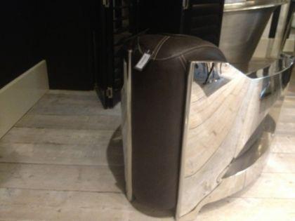Lifestyle Sessel aus Leder und Aluminium - Vorschau 2