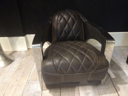 Lifestyle Sessel aus Leder und Aluminium - Vorschau 3
