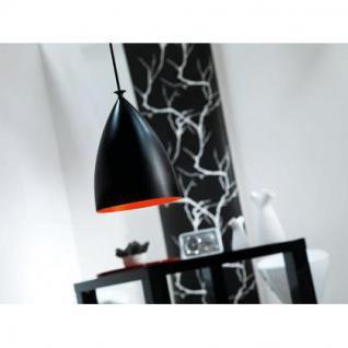 Pendelleuchte Metall Textil schwarz rot - Vorschau 2