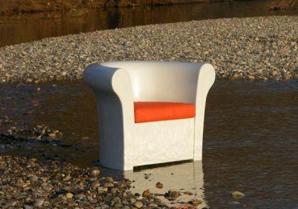 Design Sessel in Weiß, Kalla leuchtend - Vorschau 2
