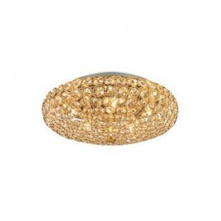 wand deckenleuchte metall gold kristall transparent modern kaufen bei richhomeshop. Black Bedroom Furniture Sets. Home Design Ideas
