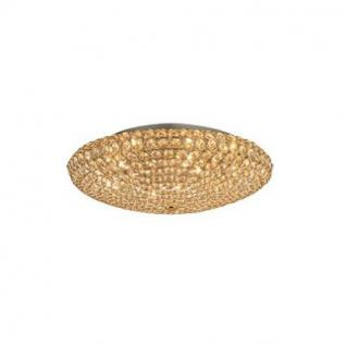 Wand- / Deckenleuchte Metall gold, Kristall transparent, modern - Vorschau