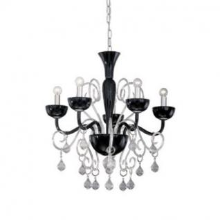 kronleuchter metall chrom glas transparent schwarz. Black Bedroom Furniture Sets. Home Design Ideas